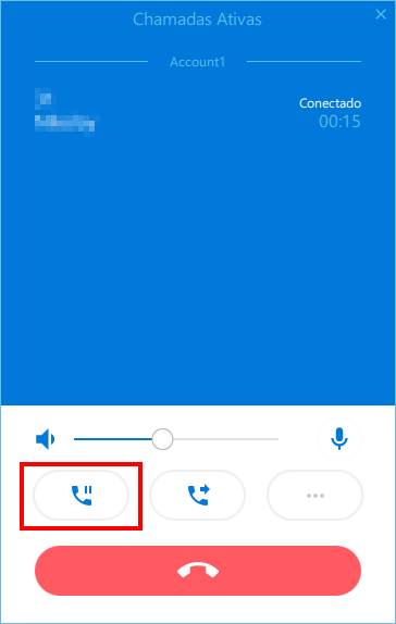 Placing active call on hold in softphone