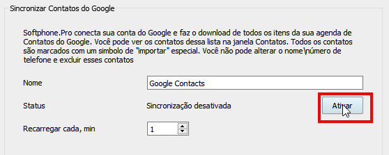 Enable Google Contacts synchronization