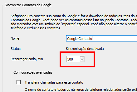 Reload Google Contacts every